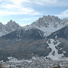 Mount Baranci and San Candido in winter